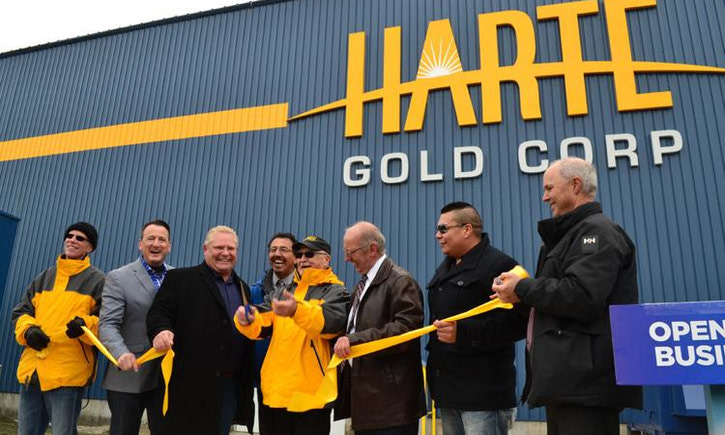 {Harte Gold Opens Ontario's First New Gold Mine in Ten Years with Premier Doug Ford }