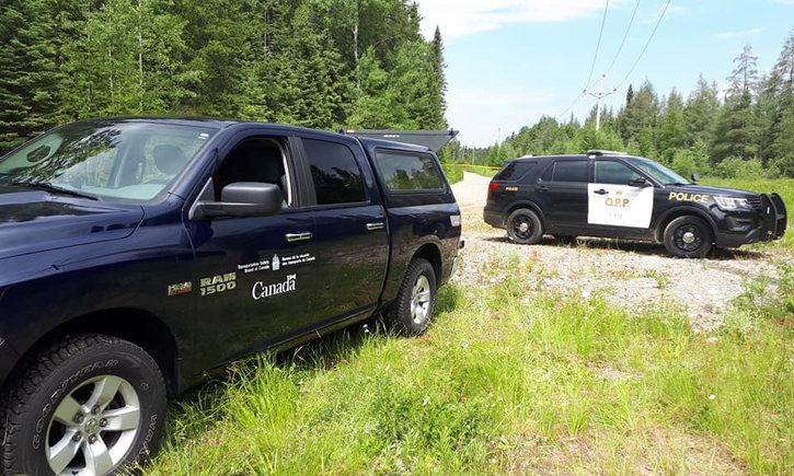 {SUPERIOR EAST OPP INVESTIGATING PLANE CRASH IN HAWK JUNCTION}